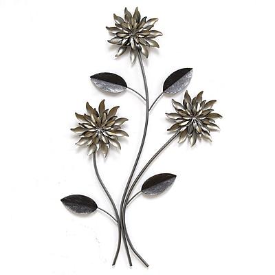 Stratton Home Decor 3 Stem Flowers Wall Décor (SHD0181)