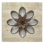 "Stratton Home Decor Rustic Flower Wall Décor, 14""H x 14""W (SHD0189)"