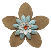 Stratton Home Decor Burlap Flower Wall Décor (SHD0231)