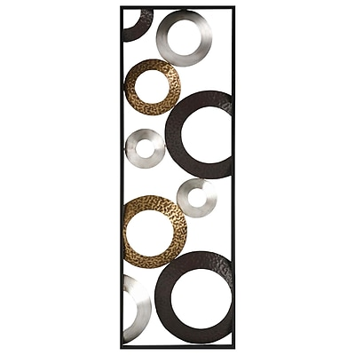 Stratton Home Decor Metallic Geometric Panel Wall Décor (SHD0241)