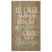 Stratton Home Decor Coffee and Blessings Wall Art (SHD0254)