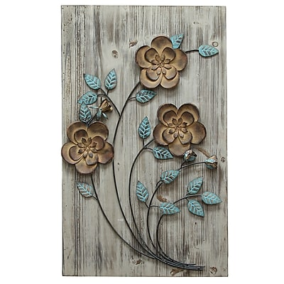 Stratton Home Decor Rustic Floral Panel II (SPC 994)