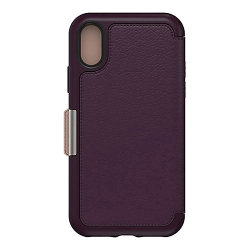 on sale 5fc9d ca681 OtterBox Strada Series Folio Royal Blush Clip/Holster for Apple iPhone X,  Xs (77-59626)
