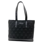 "Cosmopolitan Black Quilted Tote, 17""L x 3""W x 13.5""H"