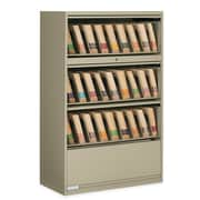 """Staples® Boulevard 9100 Series 36""""W 4 High End Tab Lateral File Cabinet Stand, Sand"""