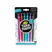 Crayola Take Note Gel Pens, 6/Pack
