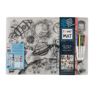 Funny Mat Kit for Age 3-6+, 4 Reusable Colouring Mats with 4 Frixion Colours Markers Kits