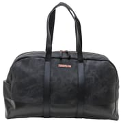 """Cosmopolitan Soft Marble Duffle, Black and Pink, 22.5""""L x 6""""W x 13""""H"""