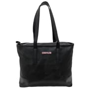 "Cosmopolitan Soft Marble Tote, Black and Pink, 17""L x 3""W x 13.5""H"