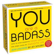 BrownTrout - Calendrier quotidien en boîte « You Are a Badass » 2019 (9781449491772)