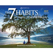 BrownTrout – Calendrier autoportant 2019, 7 Habits Of Highly Effective People, (9781465075116)