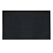 Floor Choice – Paillasson décoratif à motif linéaire, 30 po x 18 po, gris, paq./2