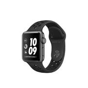 Apple – Montre Apple Watch Nike+ série 3, GPS, boîtier en aluminium gris cosmique, bracelet sport Nike anthracite/noir
