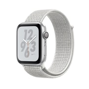 Apple Watch Nike+ Series 4, GPS, 44mm, Silver Aluminium Case with Summit White Nike Sport Loop