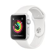 Apple – Montre Apple Watch série 3, GPS, boîtier aluminium argent avec bracelet sport blanc