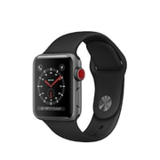 Apple Watch Series 3, GPS + Cellular, Space Grey Aluminium Case with Black Sport Band