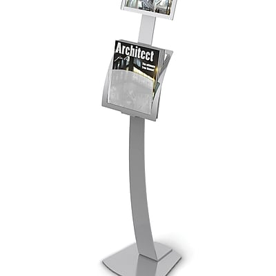 Deflect-O® Contemporary Literature Displays, Add-On Pocket for #693545, Silver