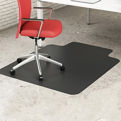 Deflecto Blackmat Hard Floor Vinyl Chair Mat NonStudded, Wide Lip, 45
