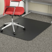 "Deflecto Blackmat Vinyl Chair Mat Studded, Rectangle, 46""x60"", Black"