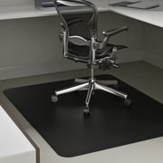 "Deflecto Blackmat Hard Floor Vinyl Chair Mat Non-Studded, Rectangle, 36""x48"", Black"