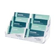 Deflect-O® Acrylic Literature Holders, 4-Tier, 8-Pocket Business Card