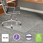 """Deflect-O® ExecuMat Top of the Line Chairmats with Padding, 46x60"""" Rectangle Shape"""