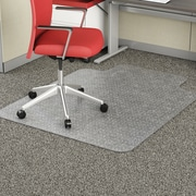 "Deflect-O® EconoMat Studded Low-Pile Chairmats, 36x48"" Overall, 20x12"" Lip"
