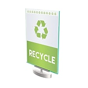 """Deflect-O Superior Image Sign Holder, 8.5"""" x 11"""", Silver/Clear with Green Edges (691590)"""