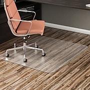 Staples 46 X 60 Rectangle Chair Mat For Hard Floors Vinyl 20230 Cc At Staples