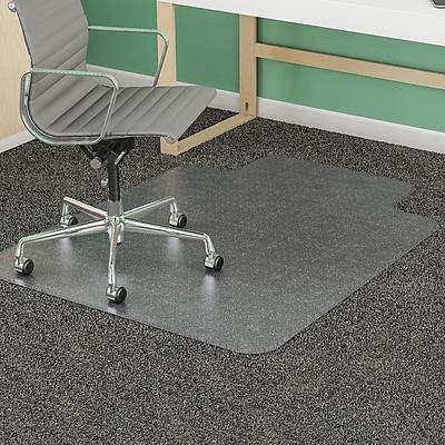 Deflecto Chair 48''x36'' Vinyl Chair Mat for Carpet, Rectangular w/Lip (DEFCM14113COM)