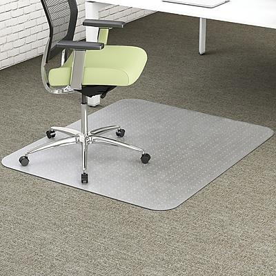 Environmat PET Studded Chair Mat, 36w x 48l, Clear