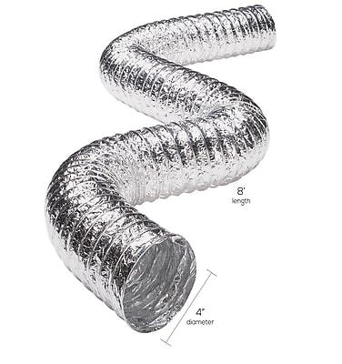 Deflecto Flxc0408 Aluminum Duct (2-ply; 8ft; Ul 181 Class 1)