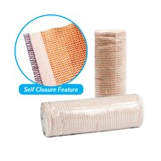 Dynarex 3659 Elastic Tensor Bandage with Self Closure, 7.5cm, White, 10/Pack
