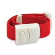 Reliance Medical 6096 Tourniquet With Pressure Buckle, Red, 10/Pack