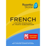 Learn French: Rosetta Stone 24-Month Online Subscription Plus Bonus Lifetime [Download]