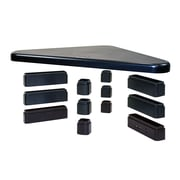DAC® MP-214 Height-Adjustable Corner Monitor/Laptop Stand with 2-USB Ports