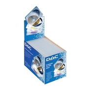 DAC® MP-157 Slimline Single CD/DVD Jewel Cases in boxed packages, 50/Pack