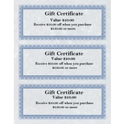 St. James® Regent Bond Gift Certificates, Blue, 75/Pack