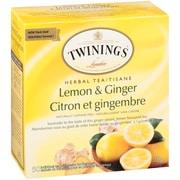 Twinings – Sachets de tisane Citron & Gingembre, paq./50
