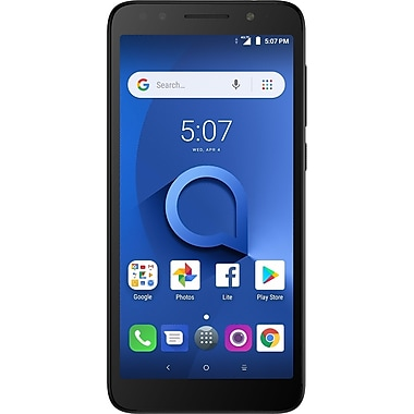 ALCATEL 1X 5.34-inch Unlocked Cell Phone, 16 GB, 1.3 GHz Quad-Core MT6739, Android Oreo 8.0, Dark Grey (5059A-2AALUS1)