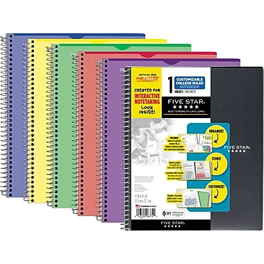 Five Star Interactive Cover 1 Subject Notebook, 9-1/8