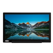 AOC I1601FWUX 15.6-Inch IPS Full HD Extremely Slim USB-C Powered Portable Monitor, 8.5 mm Thickness
