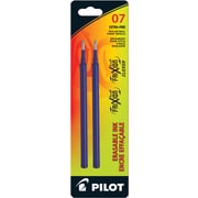 Pilot Frixion Ball and Frixion Clicker Pen Refills, Erasable Gel Ink, Fine 0.7mm Point, Blue, 2/Pack (FR7RL2)