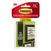 Command™ Large Black Picture Hanging Strips Value Pack, 17206BLK-12EF