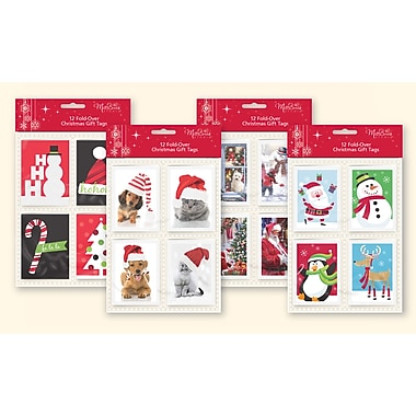 millbrook xmas fold over gift tags 99551 staples