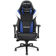 Andaseat Assassin King Series High Back Ergonomic Office Chair, Black/White/Blue  (AD4XL-03-BWS-PV)