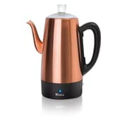 Euro Cuisine PER12 12 Cup Electric Coffee Percolator with Keep Warm Function, Copper Finish