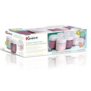 Euro Cuisine GY2640 Glass Jars for Yogurt Maker, Set of 8 with Date Lids