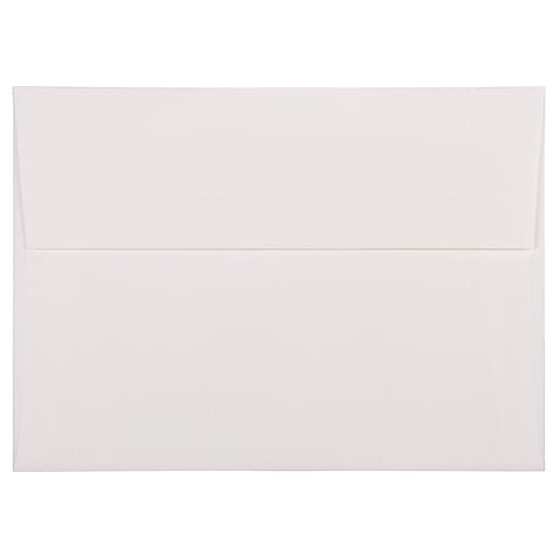 JAM Paper® A7 Strathmore Invitation Envelopes, 5.25 x 7.25, Bright White Pinstripe, 25/Pack (43420)