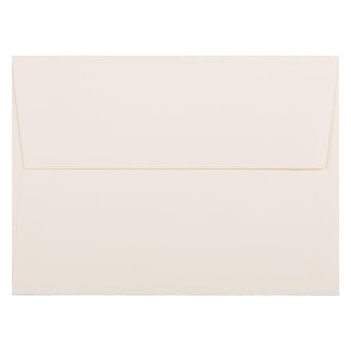 JAM Paper® A7 Strathmore Invitation Envelopes, 5.25 x 7.25, Natural White Wove, 50/Pack (44507I)